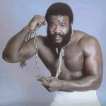 Junkyard Dog- complete with chains around his neck he would carry a bone and bark