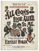 "sheet music for ""All Coons Look Alike to Me"""