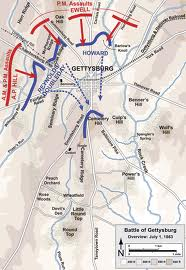 Map of The Battle of Gettysburg